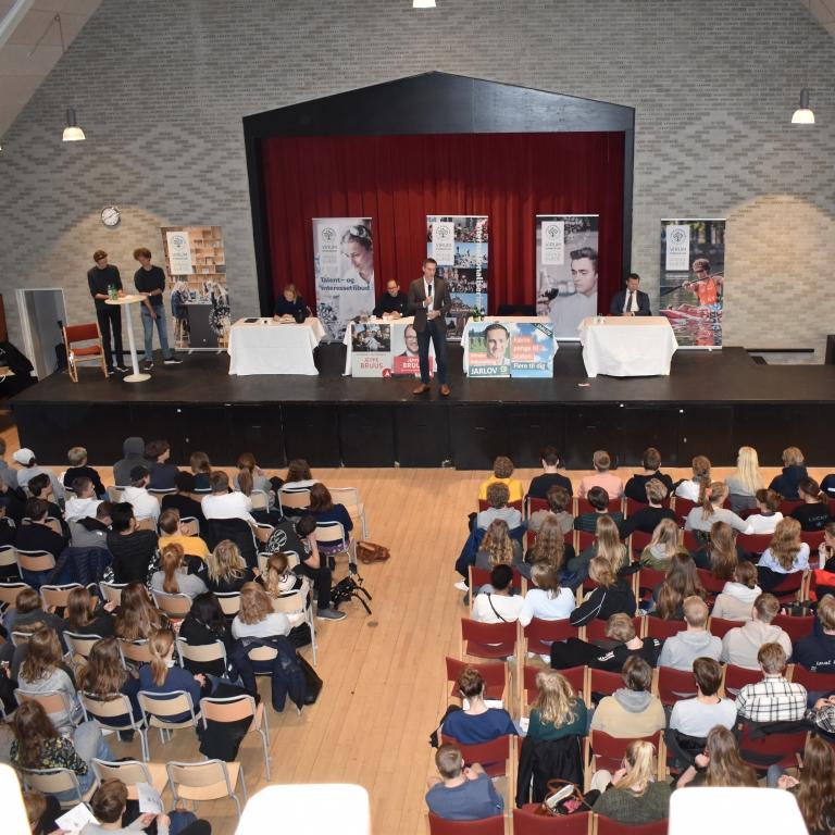 Se TV-indslaget fra den politiske debat på Virum Gymnasium d. 14.1.19