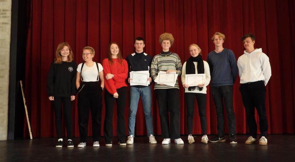 Kåring af vinderne i 1.g skrivekonkurrence 2019