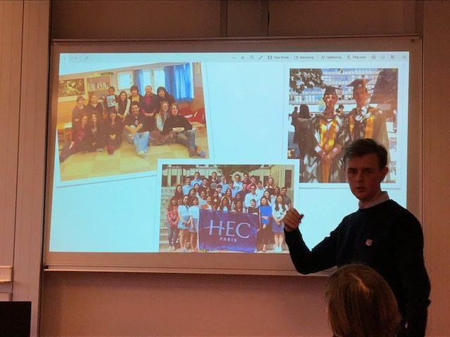 Besøg på VG fra Danish Students Abroad
