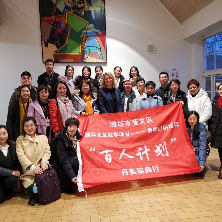 Besøg på VG af en uddannelsesdelegation fra den kinesiske provins, Qingdao, den 13. januar 2020.