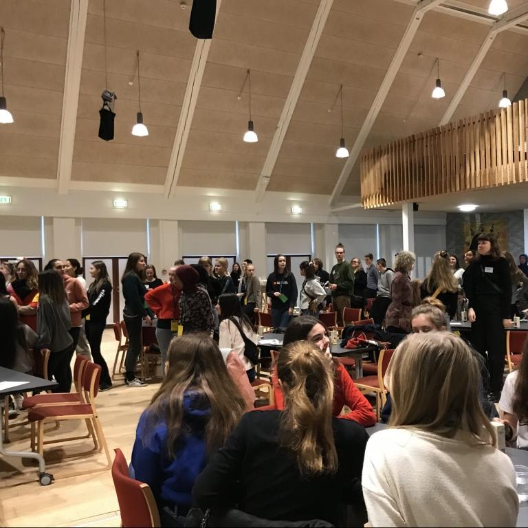 Elever mødte verden med sprog. Sprogcamp på VG lørdag d. 29. februar 2020.