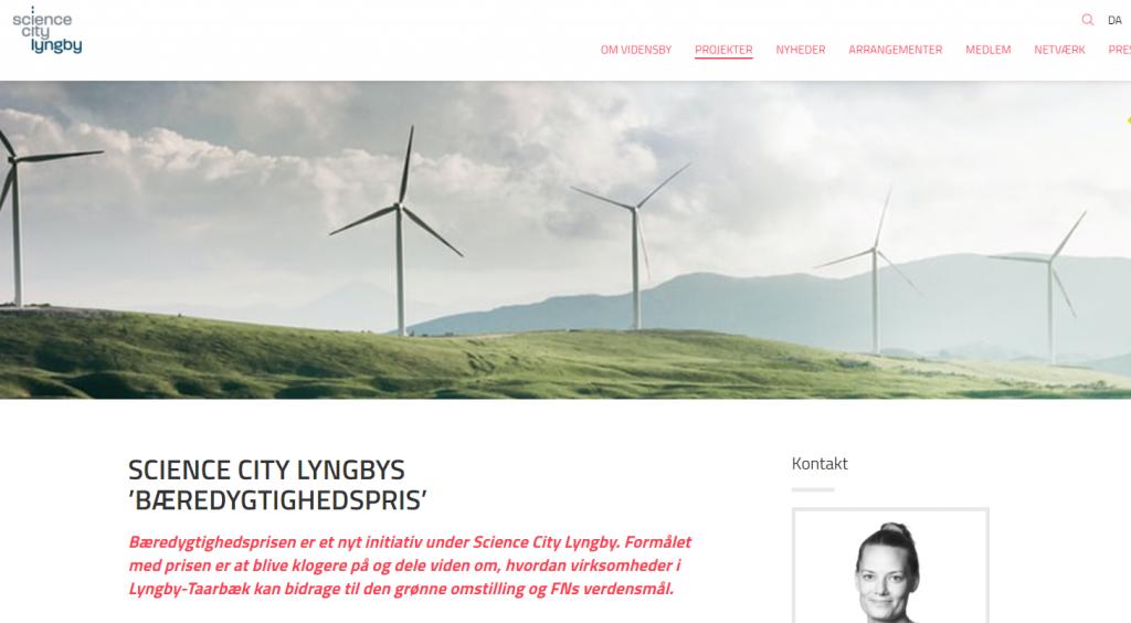 Ny bæredygtighedspris i 'Netværk for grøn omstilling' – Science City Lyngby