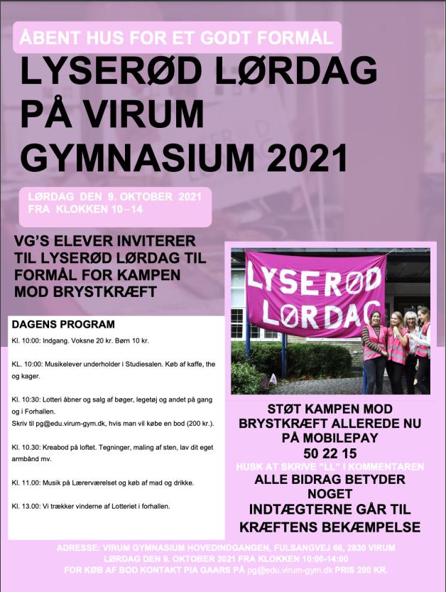 Lyserød Lørdag på VG d. 9. oktober 2021